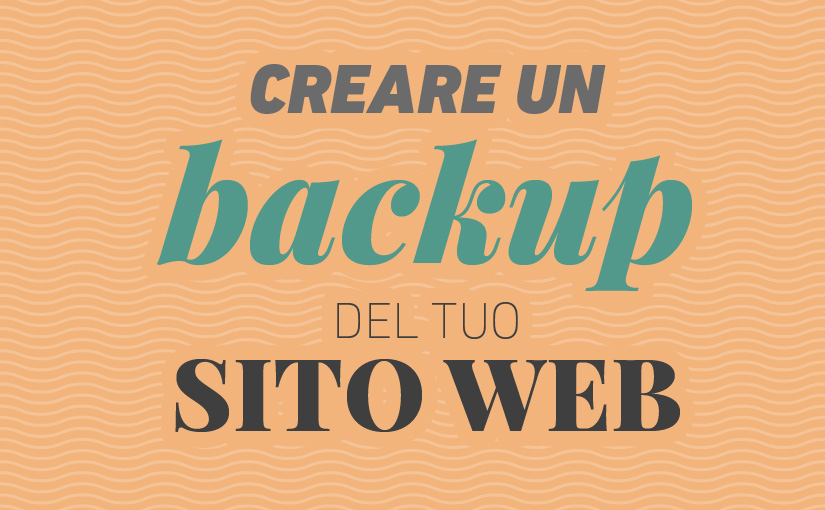 creare backup sito web - WordPress