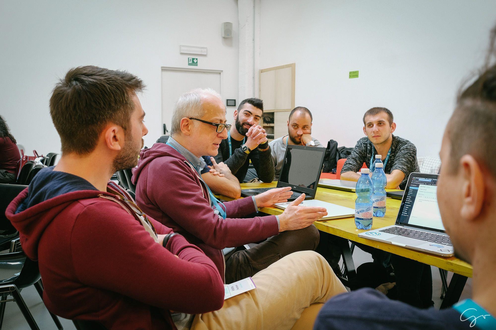 Il tavolo Accessibility durante il Contributor Day