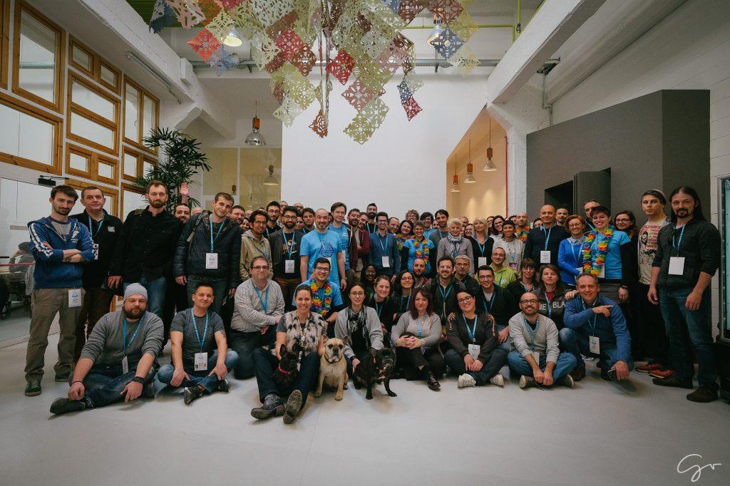 Foto di gruppo al WordCamp Torino 2018